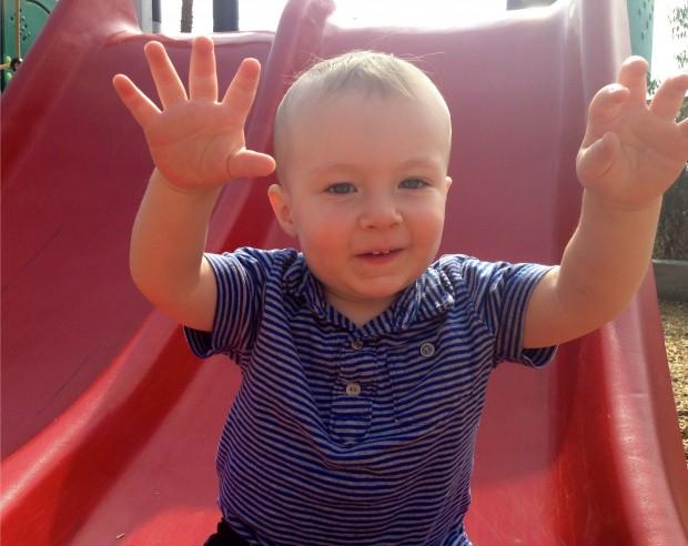 Jack on Playground Slide