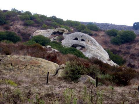 Smiling Rock in Laguna Canyon